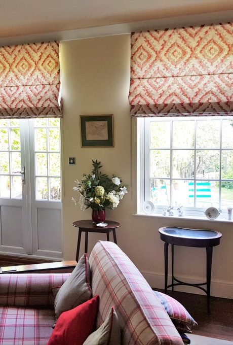 Roman blinds in a very tidy sitting room