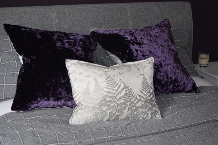 Blackout with sparkle cushions