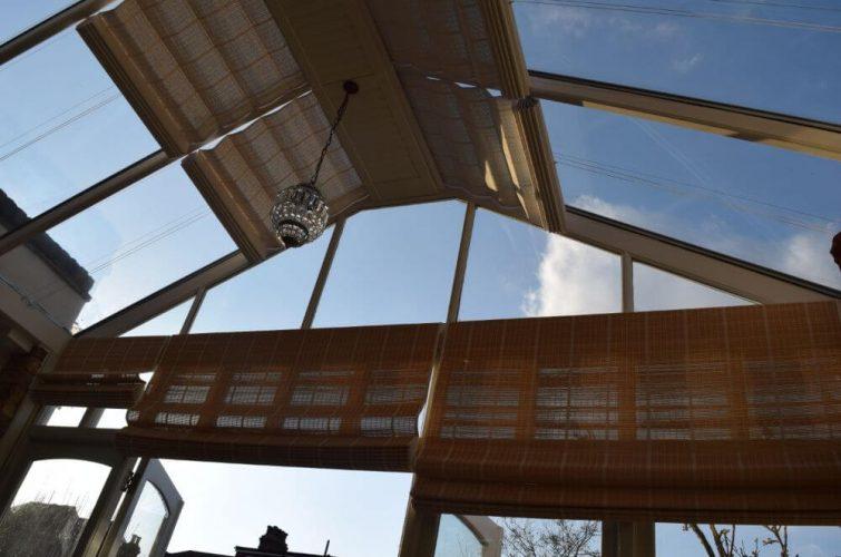 Conservatory pinoleum roof door and window blinds