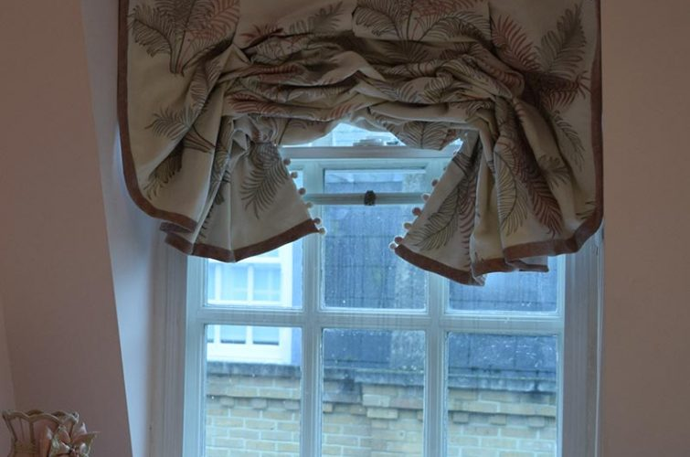 London blind and bed drapes