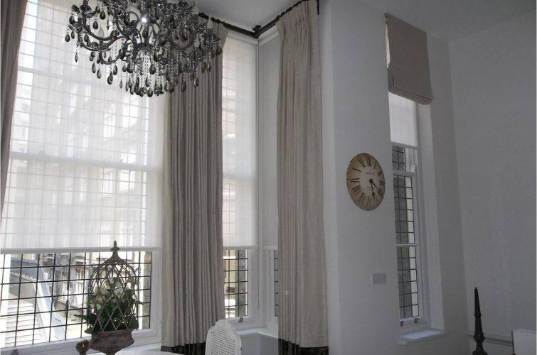 Tall window curtain